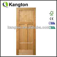 Unfinished 3 Panel Knotty Alder Wood Doors with Flat Panel