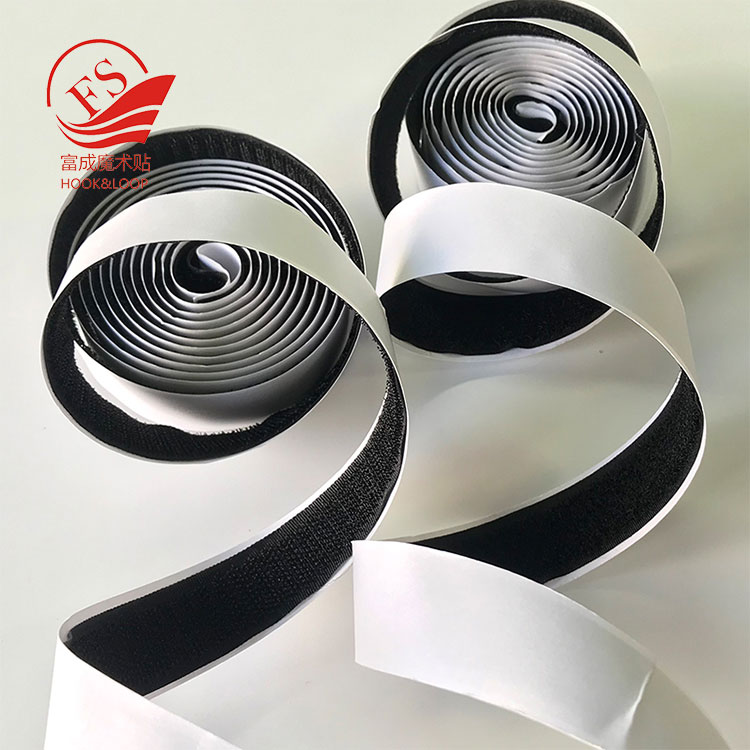 Wholesale Single Sided aggressive peel and stick hook loop magic tape strapping with adhesive backed