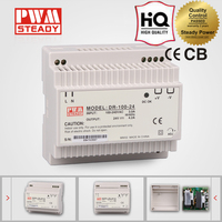 Meanwell Style 100W Single Output 48 Volt 2 Amp DIN Rail Power Supply DR-100-48 48V 2A LED Driver 48V DC Switching Power Supply