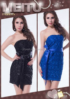 Hot wholesale sexy adult ladies party wear off-shoulder cheap full sequin dress