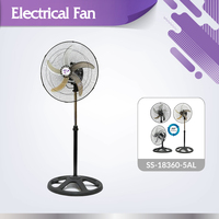High performance noiseless SS-18360-5AL electrical 3in1 360 degree rotation fan