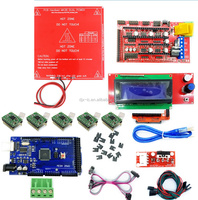 3D Printer Kit Mega 2560 R3 + Red MK2B + RAMPS 1.4 Controller + LCD 2004 + 6x Limit Switch Endstop + 5x A4988 Driver