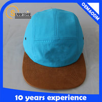 Custom 5 Panel Hats Wholesale Leather Strap 5 Panel Hats