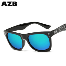 AZB Hot selling sunglasses Square Sun Shades Glasses Simple Black Frame Driving Sunglasses with low price