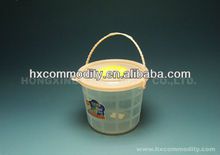 small clear plastic buckets with lids for candy storage