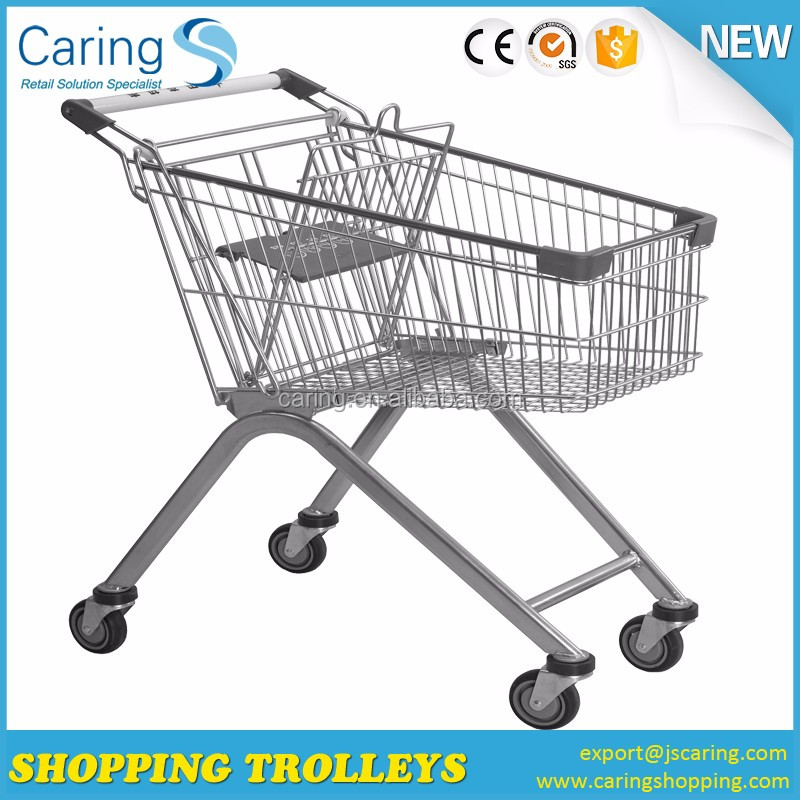 Europer style wholesale retail store shopping trolley