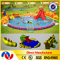0.55-0.9mm PVC Giant kids and adults inflatable dragon water park for sale