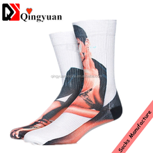 popular sale tube socks Fashion street hipster towel bottom thickening hosiery for basketball board dyeing 3 d printed socks
