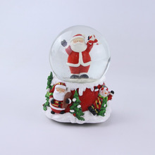 Table Decoration 100MM Cute Snowman Snow Water Globe Musical Water ball