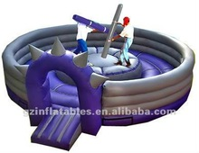 2012 {Qi Ling} inflatable sport game inflatable gladiator arena