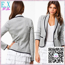 Ebay Hot Sale Lapel Winter Small Coat Woman's Casual Suit Jacket 2016 New Design Garment Custom Service