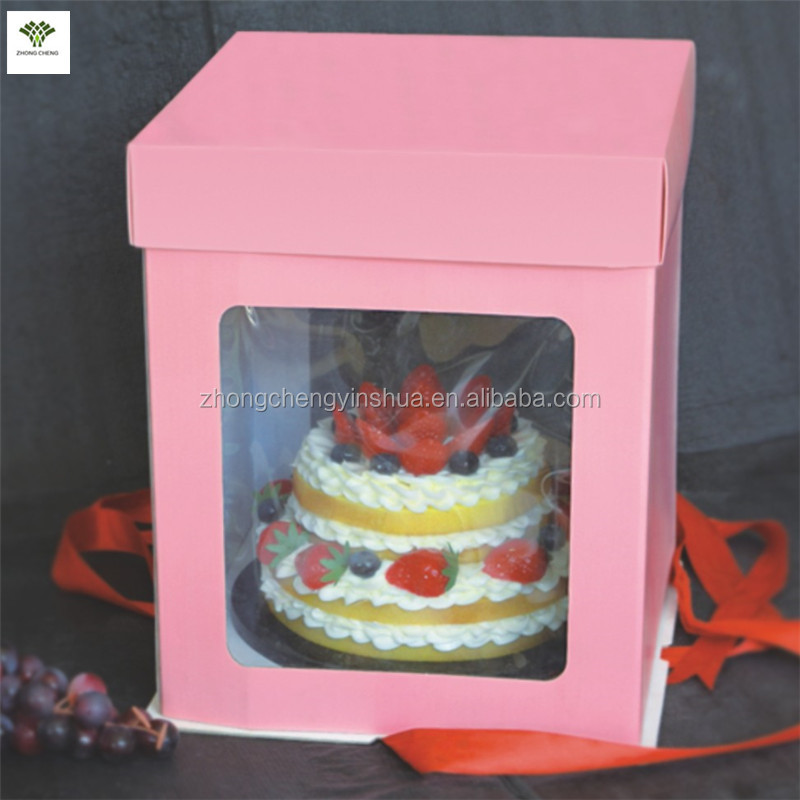 Tall Cake Box With Clear Window Clear Cake Boxes Barbie Cake Box ...