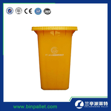 Long life cheap garbage can stand plastic color coded dustbin waste bin
