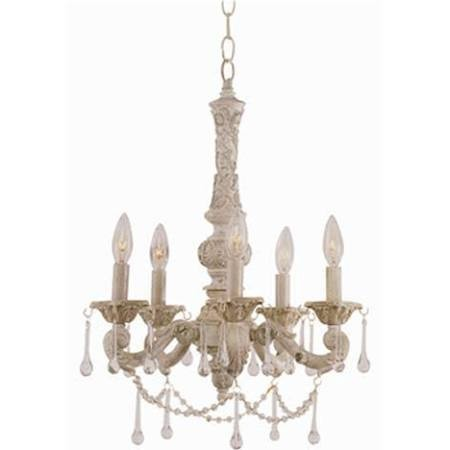 Trans Globe Lighting 12009 AW Crystal Flair 5 Light Chandelier