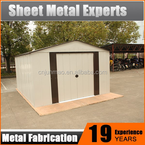 Medium metal steel structure garden shed,shed garden for pets or tool storage