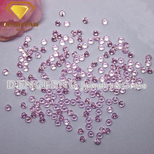 Round Shape Machine Cut Thick Girdle Pink Cubic Zirconia CZ Gemstone