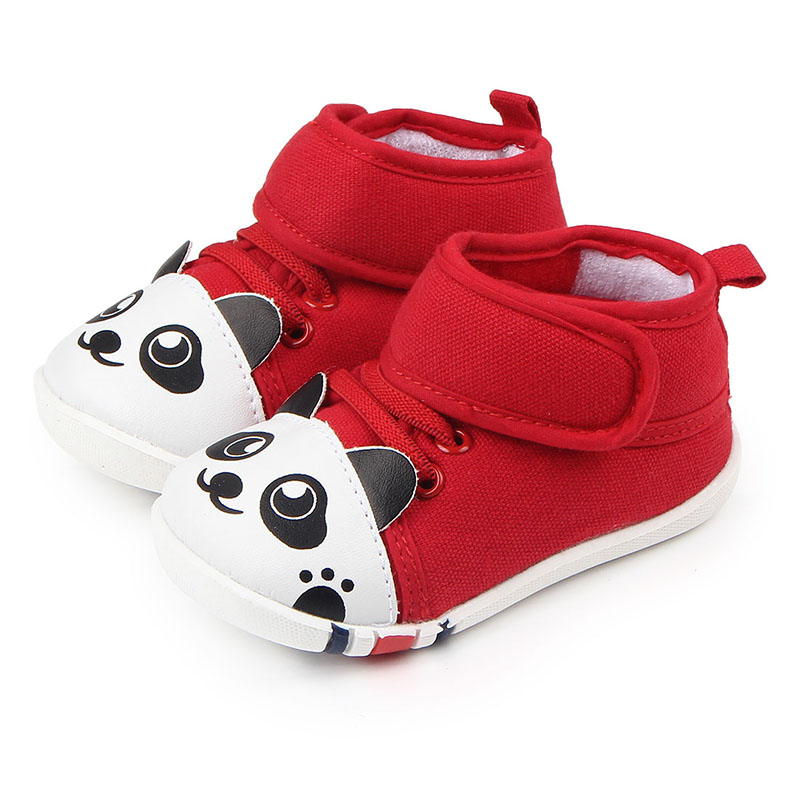 Hot selling high quality rubber cute cartoon panda baby shoes