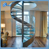 Stals Modern Steel Glass Stair Railing
