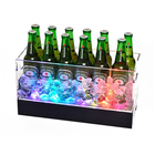 Rechargeable battery cheap square waterproof plastic electric led light glow wine beer ice bucket