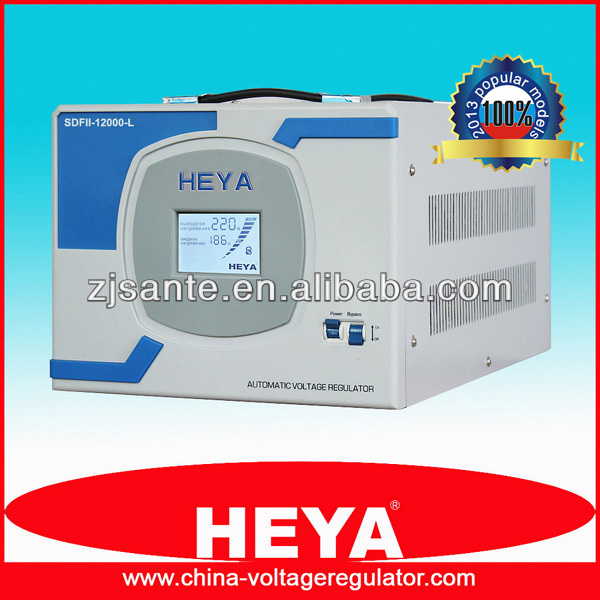 LCD Display Servo Control High Accuracy AC Automatic Voltage Stabilizer