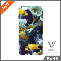 colorful flower and bird pattern cheap price 3d sublimaiton custom silicon mobile phone case for IPhone 6 Plus