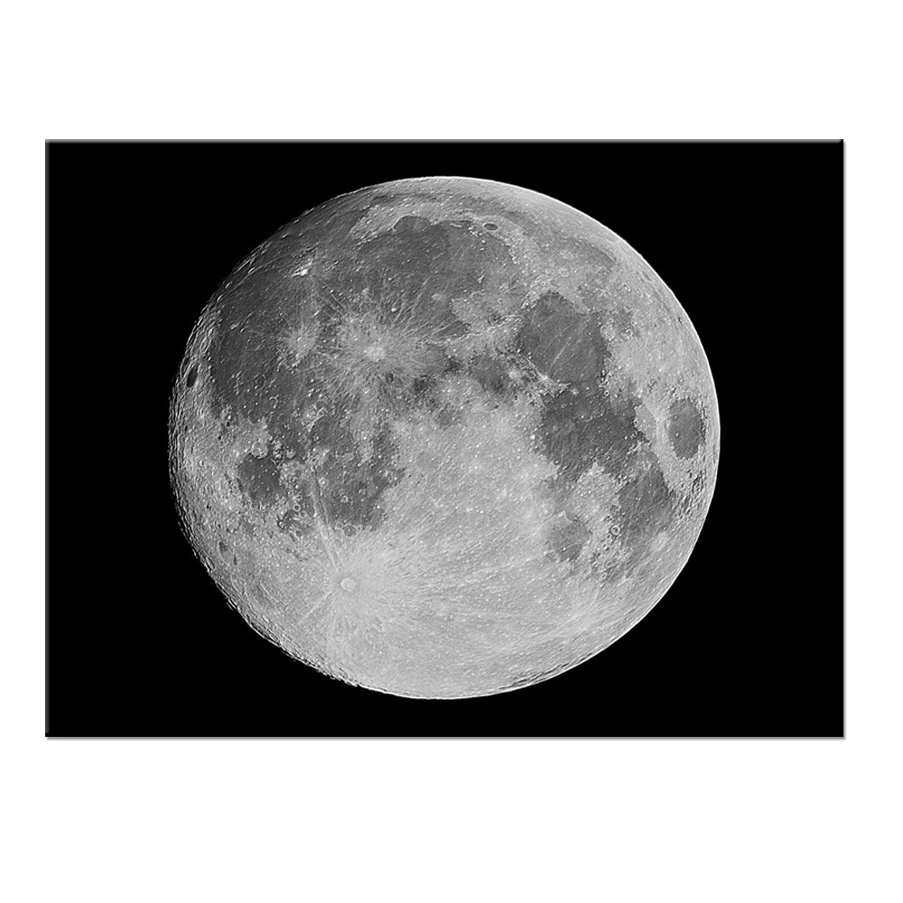 The Moon Art Picture Wall Decor Canvas With High Quality Print On Canvas