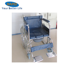 Cheapest Foshan Folding Commode Wheelchair for disabled used in Hospital