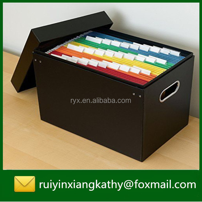 A4 clear office supplier thicken paper hanging file folder