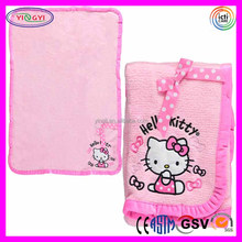 C868 Soft Hello Kitty Girl's Novelty Blanket Mink Fleece Pink Kids Comforter Hello Kitty Blanket