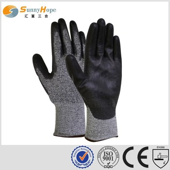 13G HPPE nitrile coated cut resistant gloves safety protection gloves