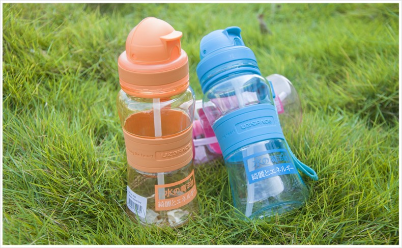 300ml 10oz OEM plastic joyshaker sports water bottle with straw