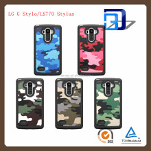 2 IN 1 Mobile Phone Military Army Case for LS770 Stylus Camouflage Woodland Hybrid Shockproof Combo Case For LG G Stylo