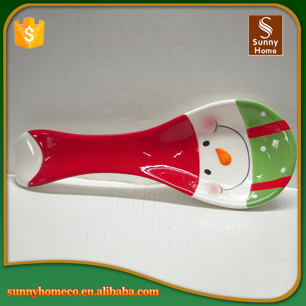 Kitchen crockery cheap Christmas spoon ceramic dinnerware for sale
