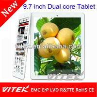 Attractive 9.7 inch wifi rk3306 dual core tablet