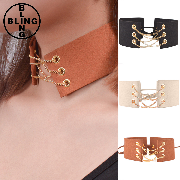 >>>Lace up Choker Black Velvet Choker Necklace Gothic Chokers 2017 Neck Boho Harajuku Big Chunky Necklace Women Jewelry