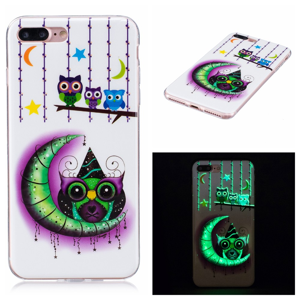 Luminous Soft TPU Back Cover Case for iphone 7plus , for iphone 7 plus Phone Case