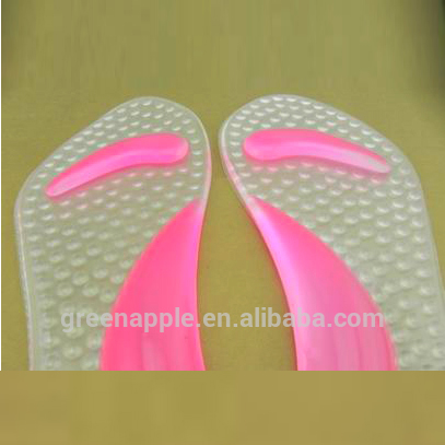 3/4 Lady Insole Orthotics Anti Slip Footcare Sticky Pad Arch support Women Inserts High Heel Shoes Magnetic Silicone Gel Insoles