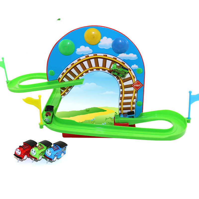 electric railway train toy, musical slot train with light