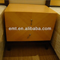 Light color style night table with two drawers, High quality solid wood and venner finished (EMT-14055-2)