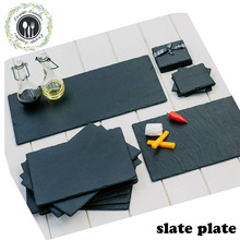 high quality 30*20cm black slate cheese board with certification