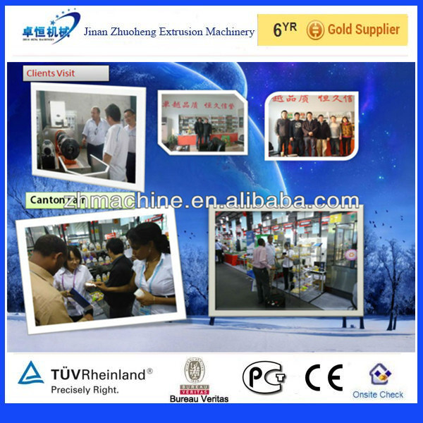 Twin-Screw Breakfast Cereal Machine/ Double-Screw Corn Flakes Extruder Process Line with CE in 150~350kg/h of Jinan Zhuoheng