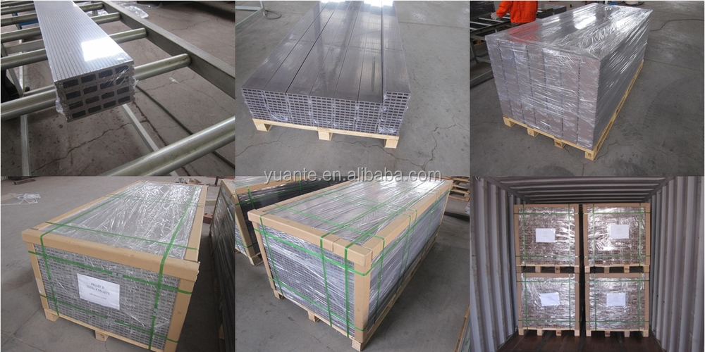 Cheap price but in good quality WPC/wood plastic composite hollow deck flooing