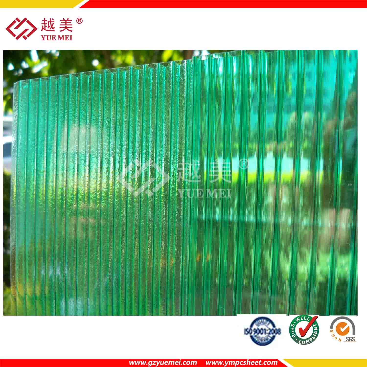 awning material polycarbonate bus stop shelter roofing sheet