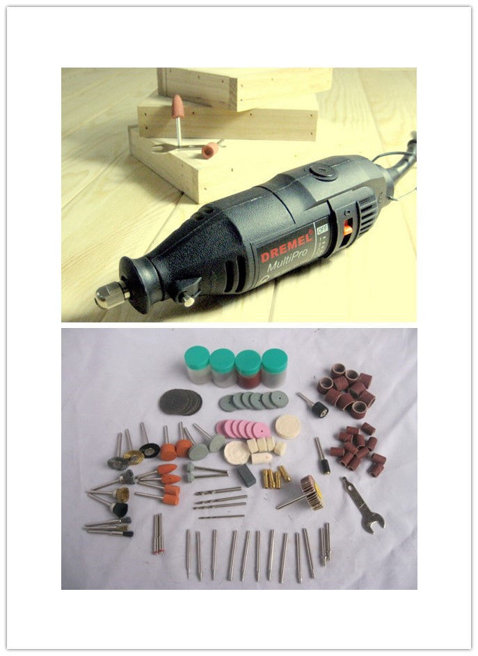 220v Electric Rotary Grinder Polish Drill Tool Grinding Variable Speed + 161pcs Kit  Free ship