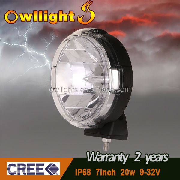 "7"" 20w 4x4 ATV SUV 20w JDM Auto Lights 20W LED Driving Light"