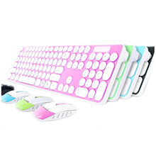 High Quality Latest Explosive 2.4G Round Keycap Wireless Mouse and Keyboard Set