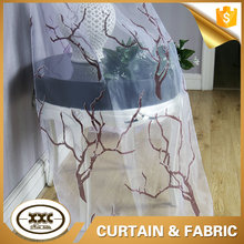 XXC shaoxing manufacturer tree design burnout sheer curtain fabric