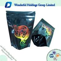 Classic customized plastic bags hand rolling tobacco with ziplock /Herbal bags with zipper