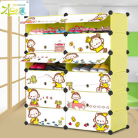 Home furniture baby room assemble cartoon large shoe storage