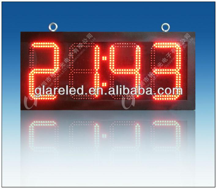 Ext rieur led horloge pour cout up et count down 12 for Affichage led exterieur